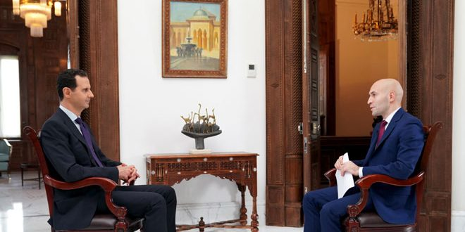 President Assad: We Will Liberate Every Part of Syria and the Americans Should Leave