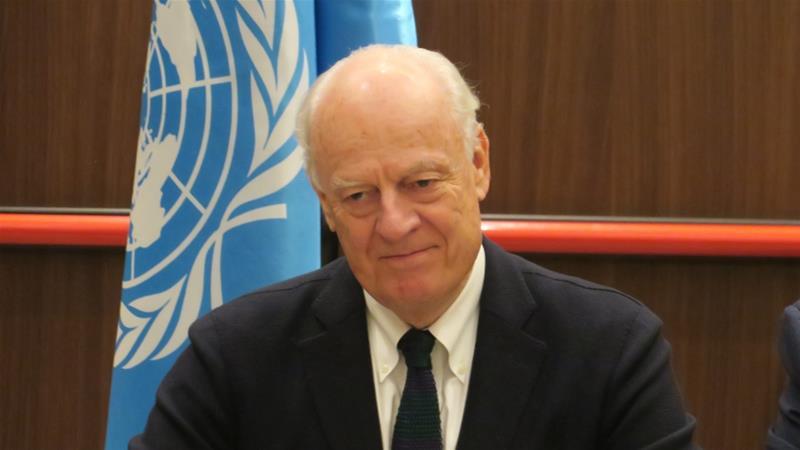 Russia, Iran, Turkey seek deal on Syria constitutional body at UN