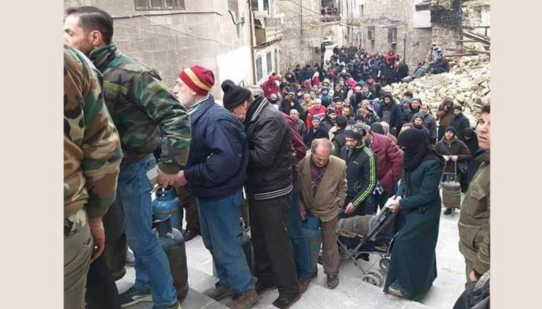 Long Queues for Gas Lead to Anger in Aleppo