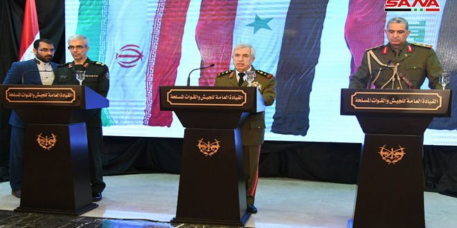 Defense Minister: Syria Doesn't Bargain Over Right to Defend Its Sovereignty