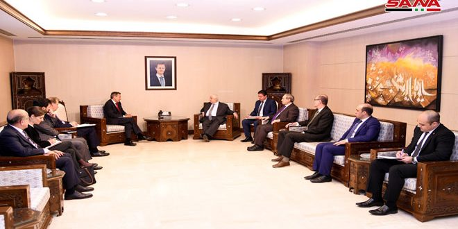Muallem, Maurer Discuss Cooperation Between Syria and ICRC