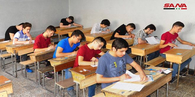 Students Across Syria Start Their Final Exams - The Syrian