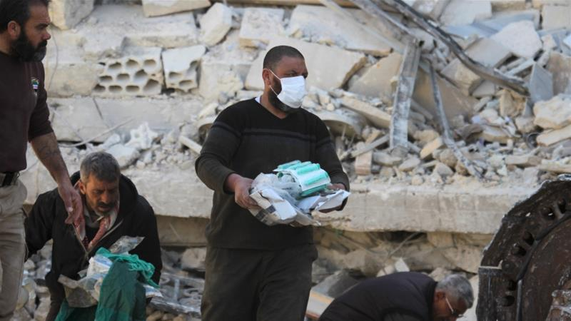 Who is bombing hospitals in Syria?