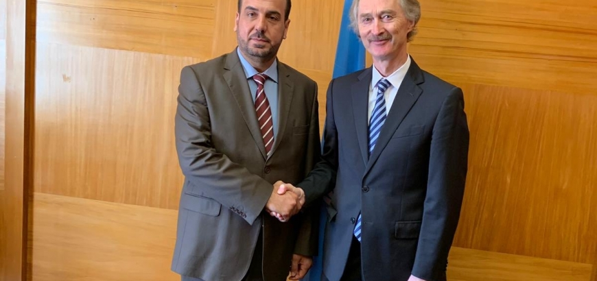 Pedersen Meets Head of the Syrian Negotiations Committee
