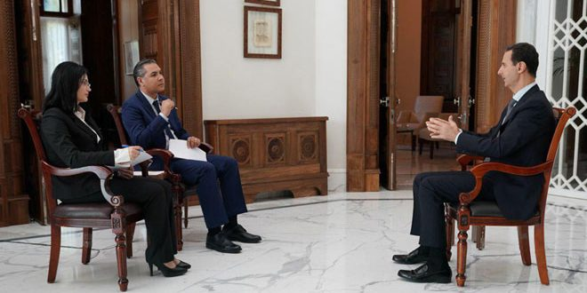 President Bashar al-Assad Says Syrian Regime to Take Back All Kurdish Held Areas in New Interview