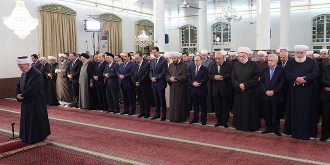Assad Participates in Religious Celebration of Prophet Mohammad's Birthday
