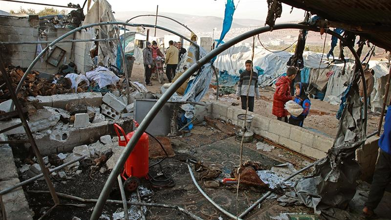 Idlib IDP camp hit by deadly missile attack