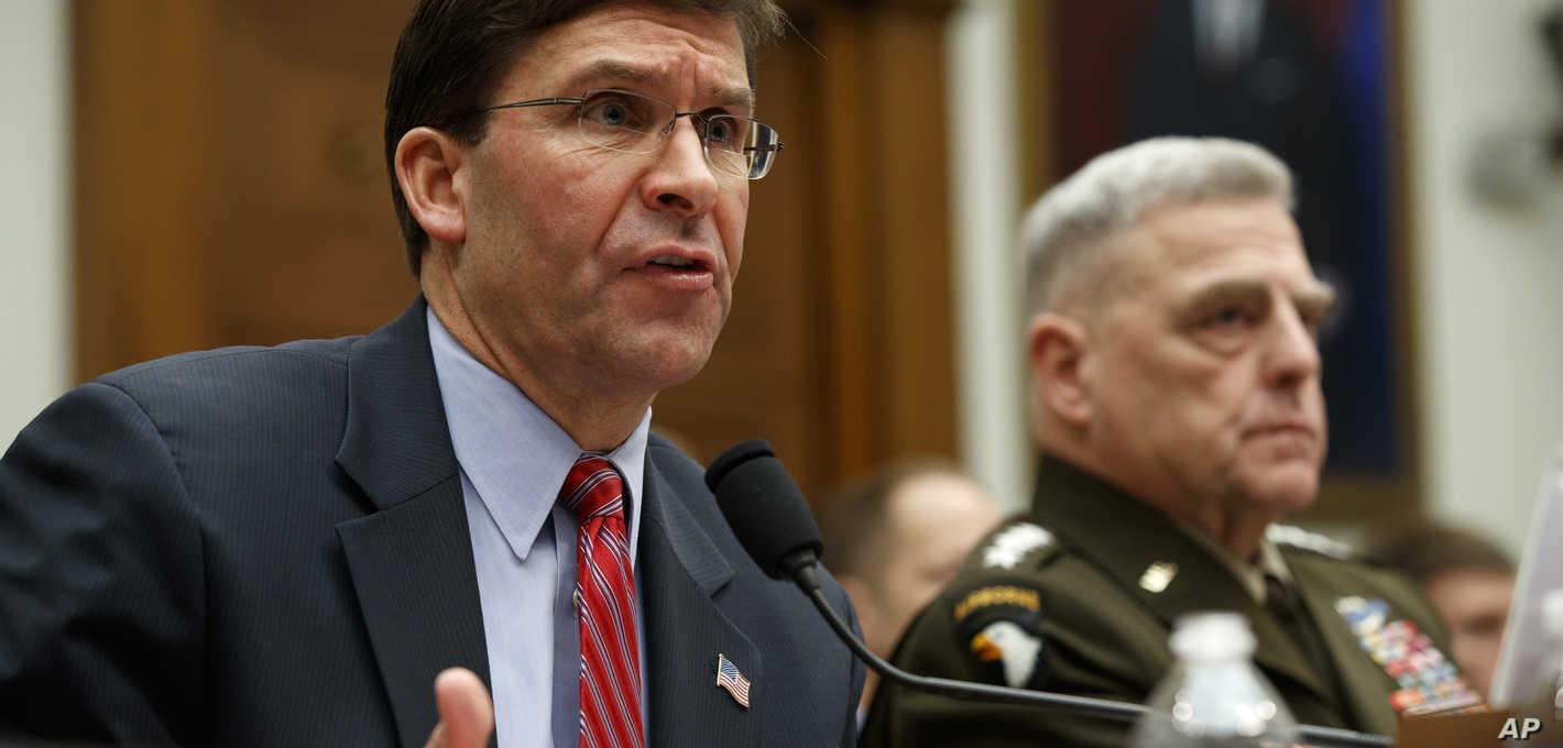 US Military Leaders, Congress Spar Over Syria Pullout