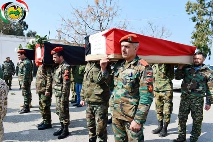 Three Officers From Military Hospital in Tartous Buried