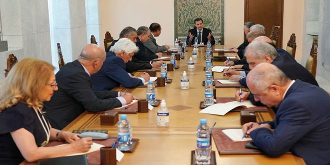 Assad Chairs Meeting for Central Leadership of Baath Party