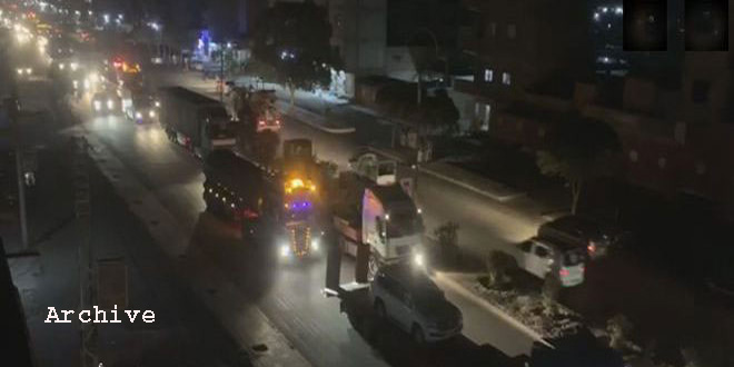 US Occupation Brings 27 Trucks Laden With Military, Logistic Reinforcements to Hassakeh