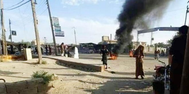 Protests Calling for Expelling SDF Militias and US Forces Held in Deir ez-Zor Villages