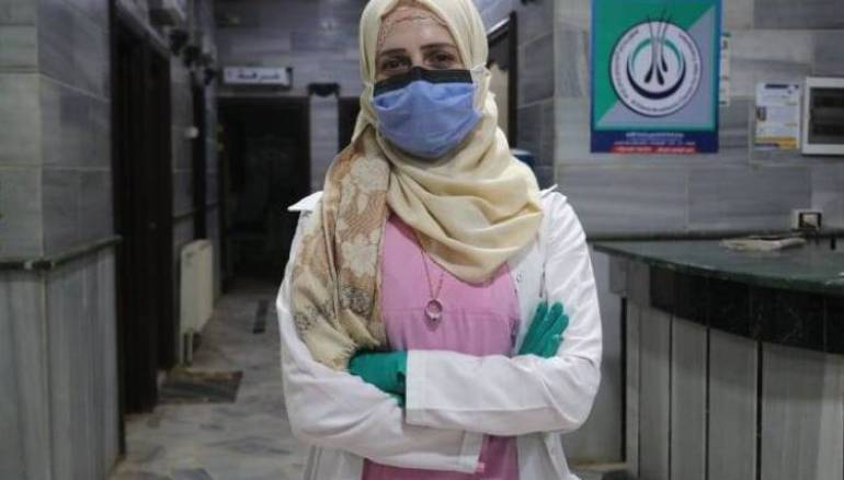 Rahaf al-Ja'a Leads Volunteer Efforts to Fight the Coronavirus in Displaced Camps