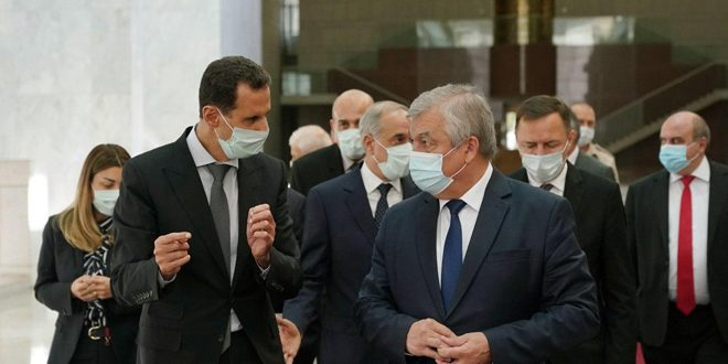 Assad Receives Russian Delegation