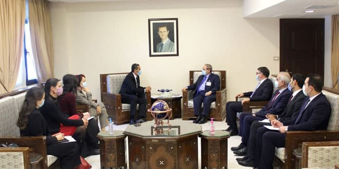 Mikdad: Redoubling Efforts To Face Challenges Imposed by COVID-19 and Economic Blockade