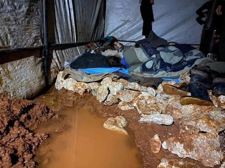 More Idleb Camps Flooded by Heavy Rain