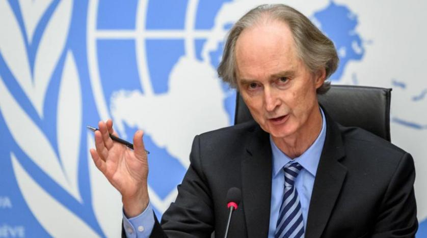 Geir Pedersen Holds a Press Conference at the United Nations Offices in Geneva