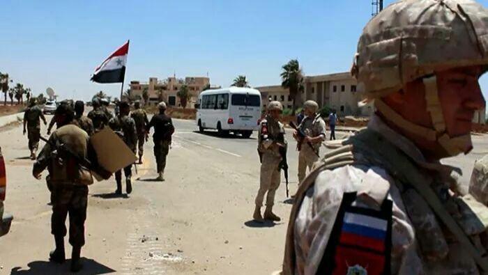 Military Convoy Heads to the Town of Eastern Ghariyah, in Daraa