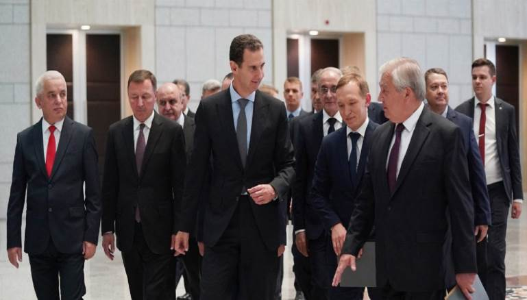 A Russian landing in Damascus Syria