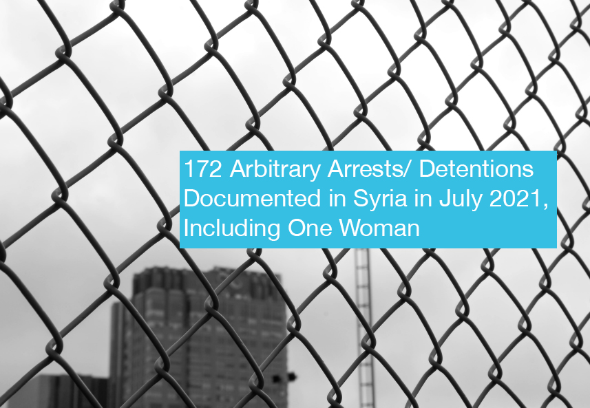 172 Arbitrary Arrests in Syria Recorded in July
