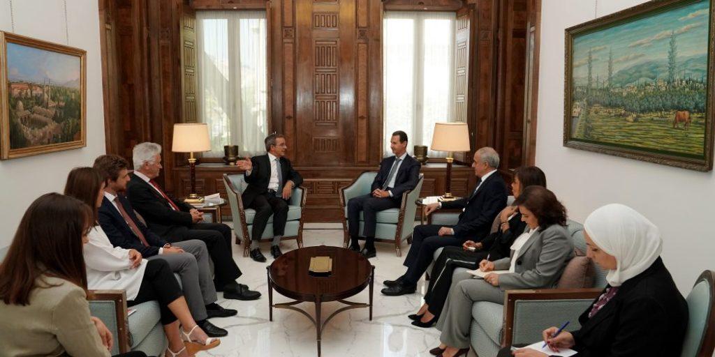 Assad Receives Delegation of European MPs