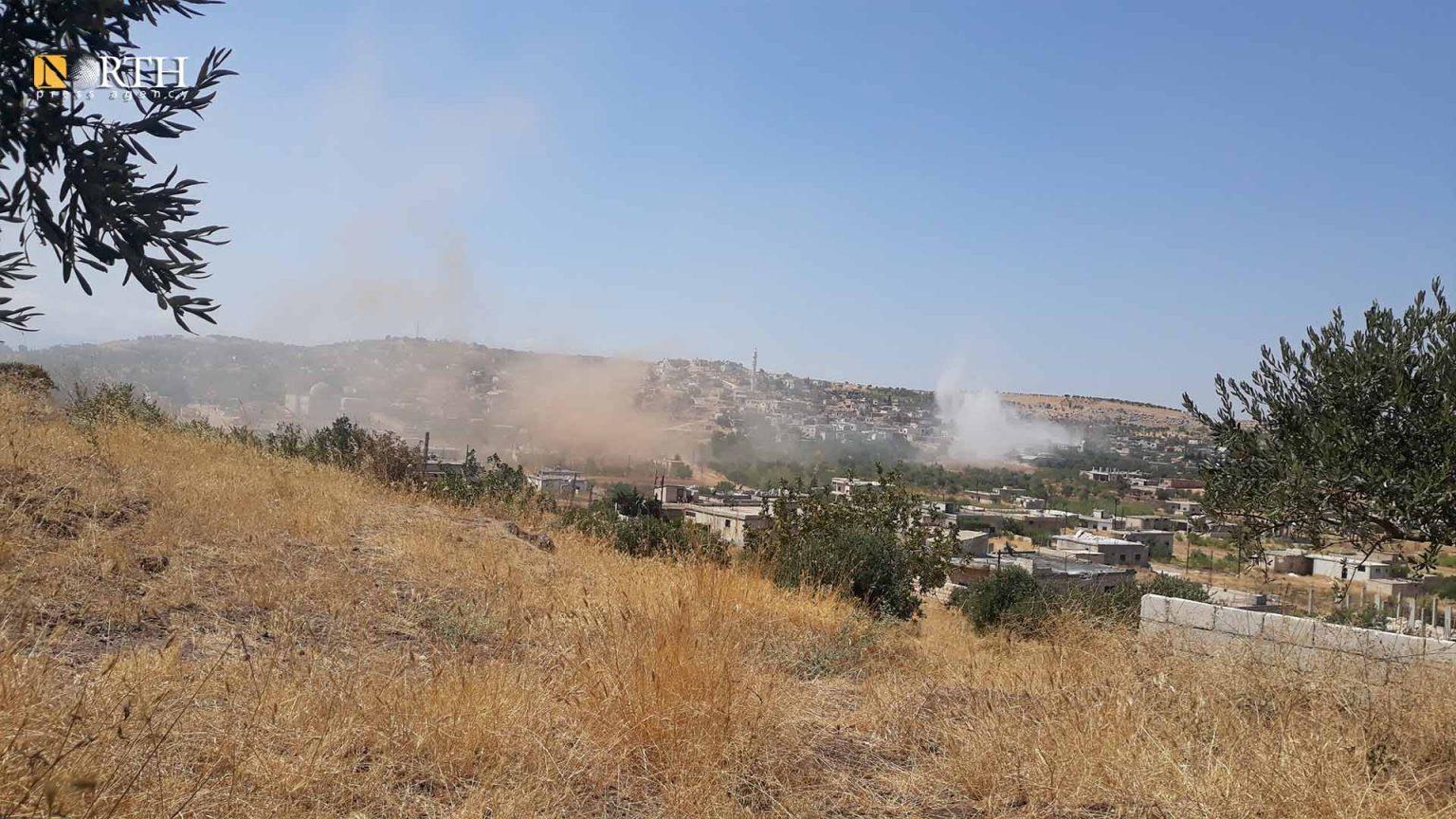 Regime Forces Target Opposition Sites in Northwest Syria