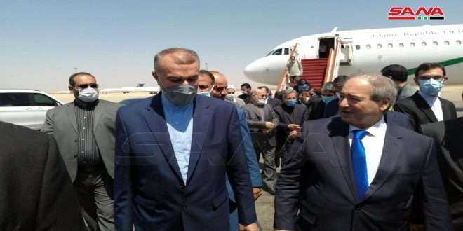 Iranian Foreign Minister Arrives in Damascus to Discuss Facing Economic Terrorism