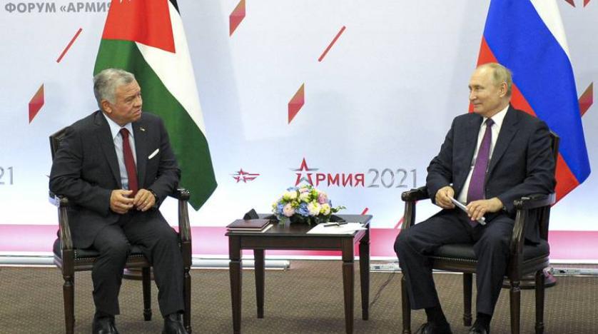 Jordan's King Abdullah, Putin Discuss Stability in Southern Syria