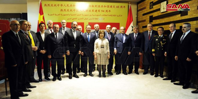 Mekdad: Relationship Between Syria and China Reflects Aspirations of Their Peoples