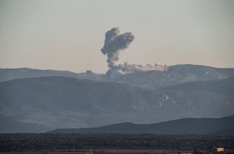 Afrin Airstrike Russian