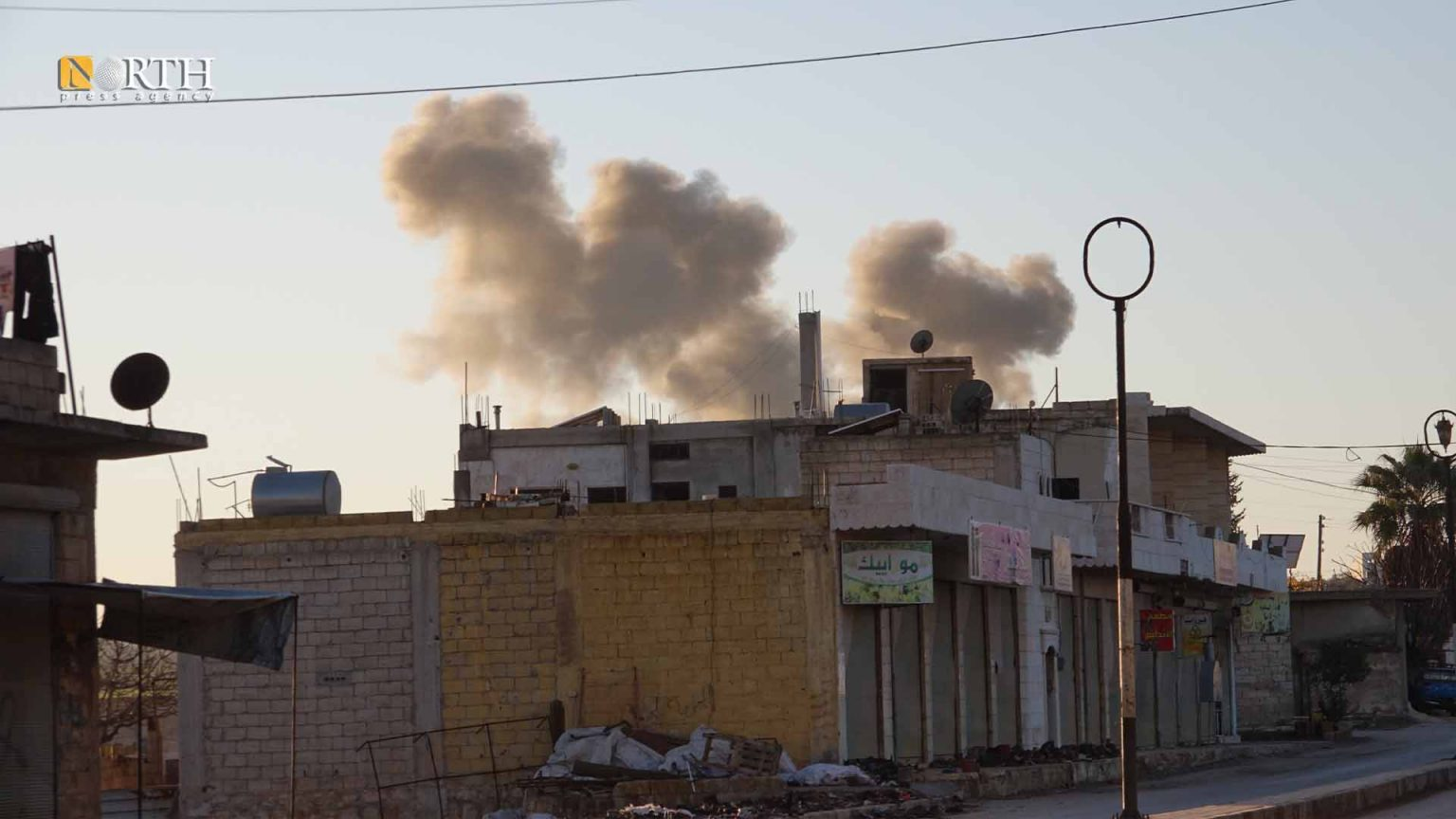 Russian Airstrikes on Opposition Sites Around Idleb