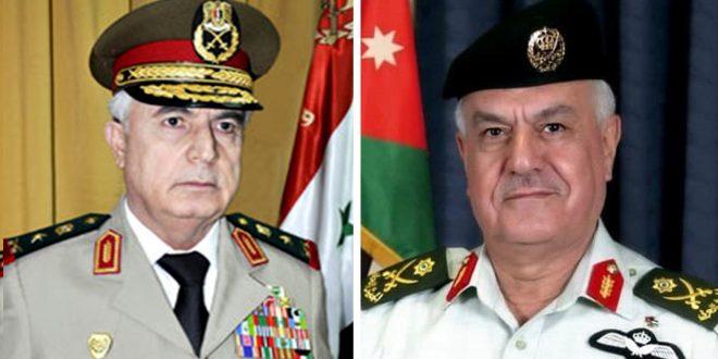Defense Minister of Syria in Jordan