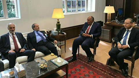 Egyptian, Syrian Foreign Ministers Meet in New York
