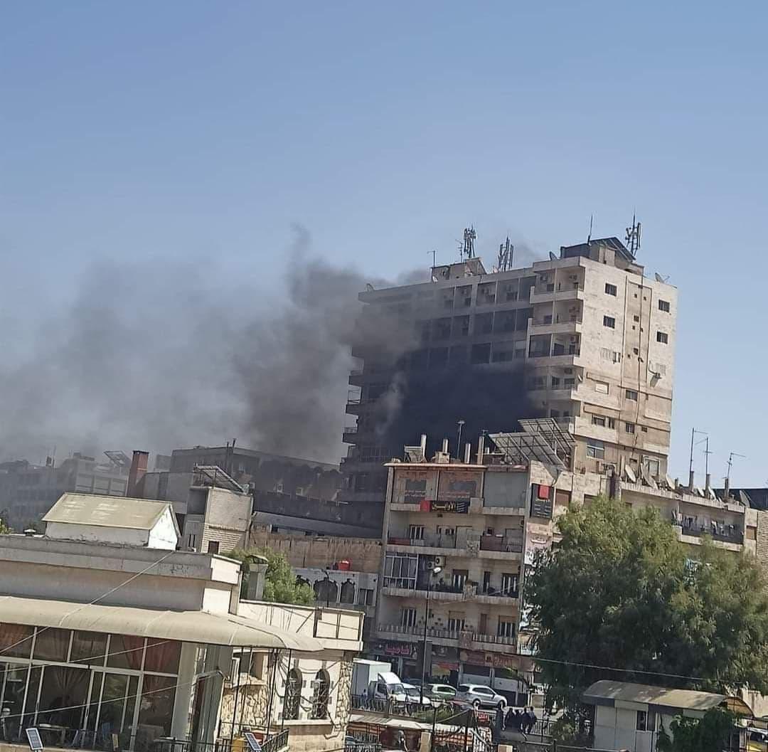 Huge Fire Devours Real Estate Registry Building in Hama
