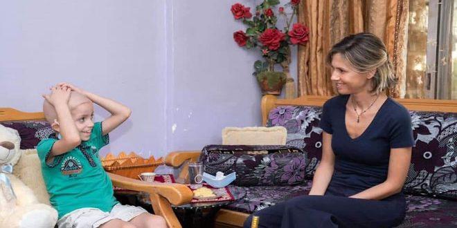 Asma al-Assad Visits Child who Received a Complicated Transplant