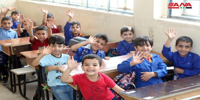 Students Return to their Schools in Daraa After the Return of Displaced Families to their Houses
