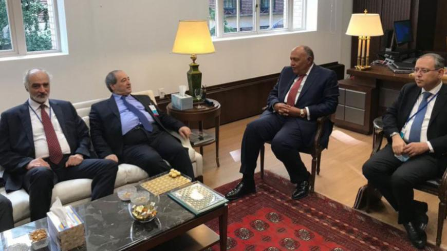 Shoukry: Egypt will Help Syria Regain its Position Within the Framework of Arab National Security