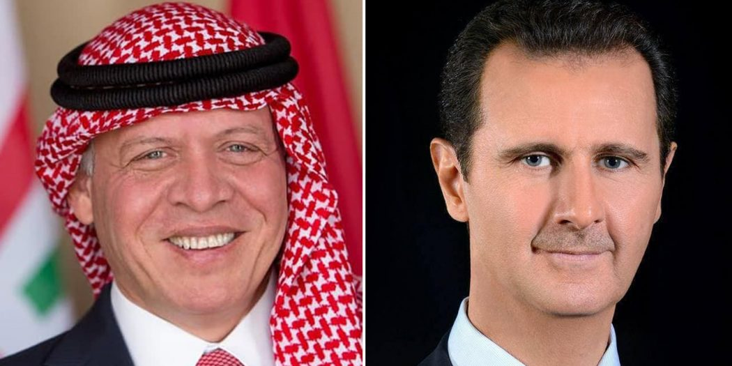 President Bashar al-Assad held on Sunday a phone call with Jordan's King Abdullah II to discuss bilateral relations and boosting joint cooperation, SANA writes.