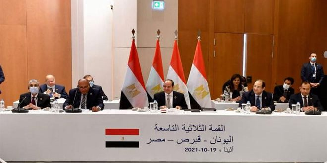 El-Sisi: Egypt, Cyprus and Greece Commit to Territorial Integrity of Syria