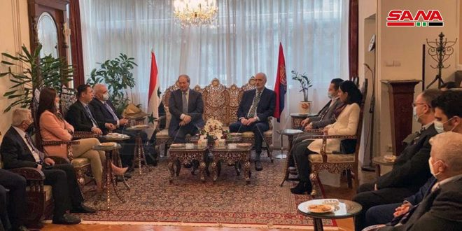 Mekdad Calls on Syrian Community in Serbia to Invest in the Homeland