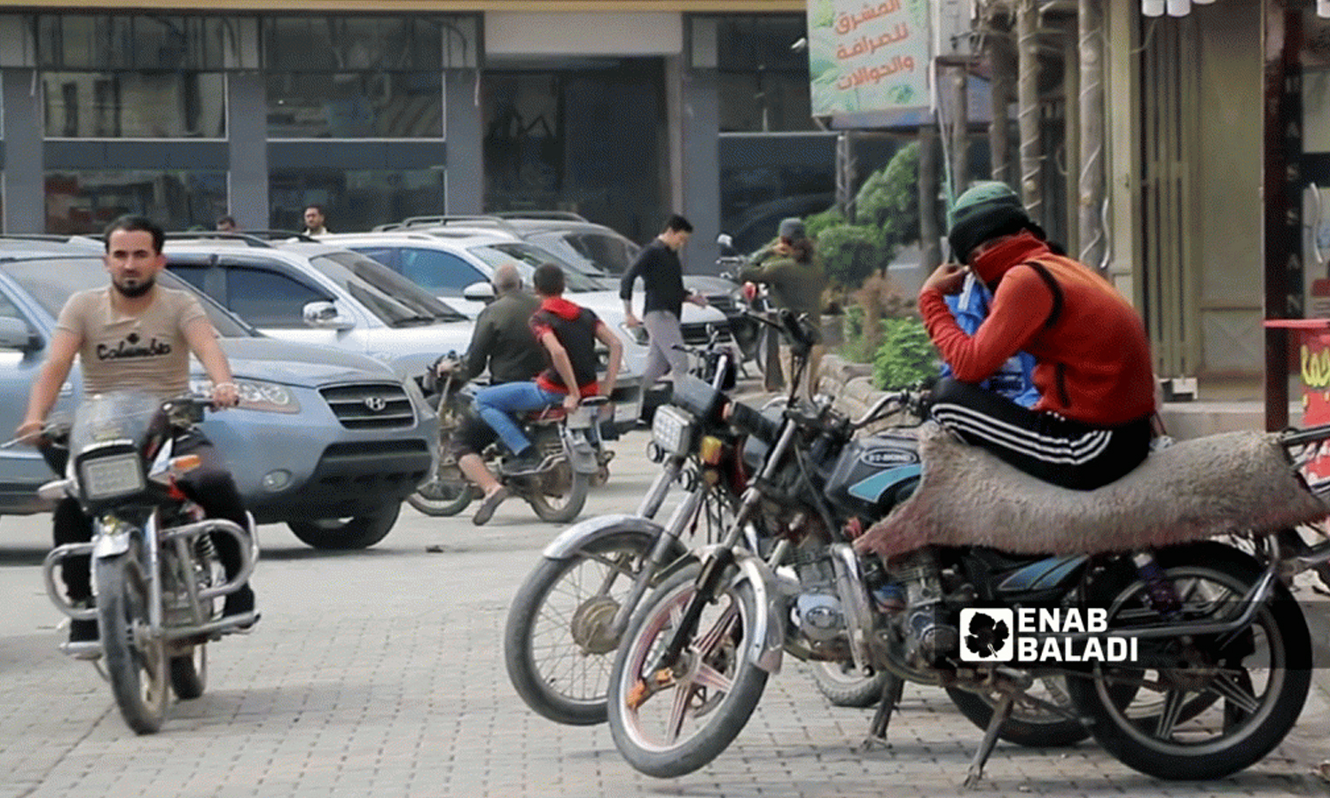 Amid High Fuel Prices and Low Income, Motorbike Taxi Service in Azaz