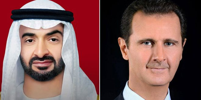 President Assad  and Abu Dhabi Crown Prince Discuss Relations