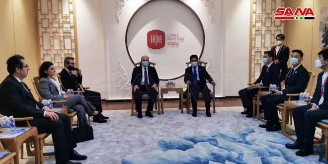Syria, China Discuss Cooperation at Expo 2020 Dubai